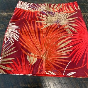 Gap stretch palm frond skirt with front pocket
